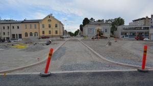 En körfil på Storgatan i Jakobstad