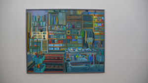 Carin Bengts oljemålning av sin ateljé