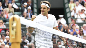 Federer efter segern över Gilles Simon år 2015