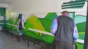 Nyrenoverat omklädningsrum