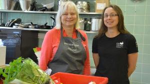 Eija Lamsijärvi och Catrin Heikefelt leder Kustens mat.