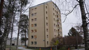 Det svajande H-huset vid Vasa centralsjukhus.