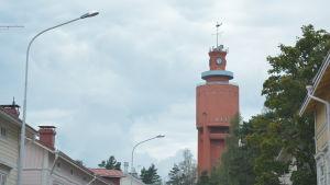 Vy över Hangö vattentorn.
