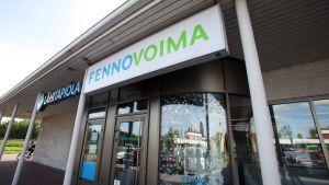 Fennovoimas kontor i Pyhäjoki den 5 september 2015.