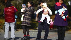 Barn och föräldrar i Kina
