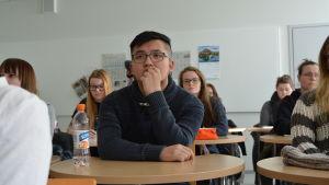 Hong Nguyen, första årets vårdstuderande på Novia i Vasa.