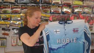 Nina Kavon med sin VM-tröja