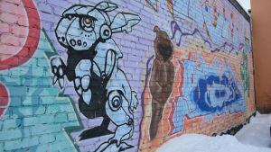 Graffiti vägg