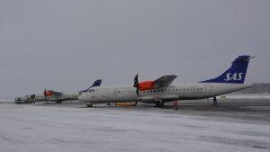 SAS-Flybe plan på Vasa flygplats.
