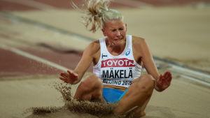 Kristiina Mäkelä i utomhus-VM 2015 i Peking.