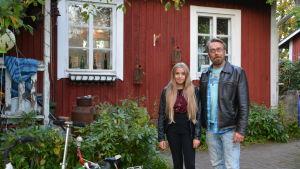 Frank och Linnea Skog i Söderveckoski i Borgå.