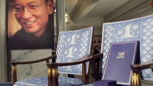 Liu Xiaobos vann Nobels fredspris 2010.