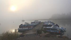 Svenvikens småbåtshamn i Ingå.