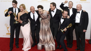 Breaking Bad-ensemblen på Emmy Awards år 2013.