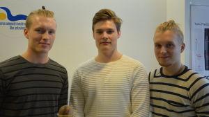 Fredrik Ulfstedt, Joel Tunturi och Wilperi Jalonen.