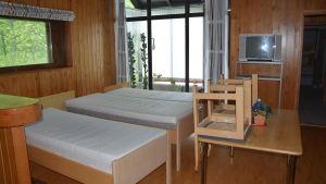 Raasepori resort efter att flyktingarna flyttat ut.