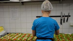 Smörgåsar på Andreas Knips hembageri i Kvevlax.