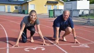 Amanda Liljendal och Lars Fagerholm.