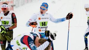 Iivo Niskanen sur efter lagsprinten, VM 2017.