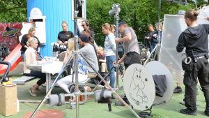 Inspelning av Onnela i Borgå.