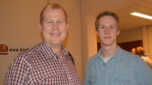 Björn Lindqvist och sonen Simon Lindqvist.