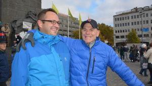 Thomas Hjerpe och Tony Sundqvist.