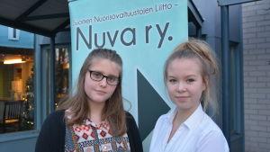 Petra Nylund ska sitta med i Kaskös ungdomsfullmäktige. Mari Humalajoki sitter i distriktets styrelse.