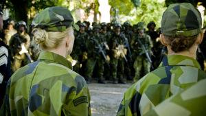 Svenska försvarsmaktens livgardesbataljon.