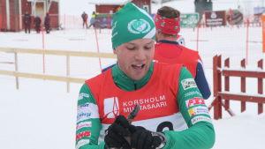 IF Femmans Victor Lövdal vid FSS-mästerskapen i Vörå 2016.