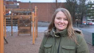 Lena Granback gör sin praktik som skolcoach på Vasa övningsskola.