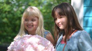 ada och glada dvs. aava merikanto och lilja lehto inför filminspelning i Lovisa 2016