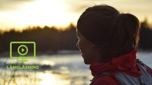 Ida Kronholm trivs ute i det fria, här på ett träningspass i Fäboda.