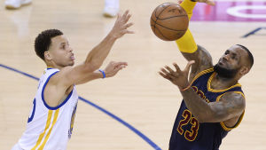 Stephen Curry och LeBron James