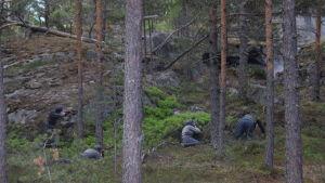 Strid i pjäsen Okänd soldat i Harparskog.
