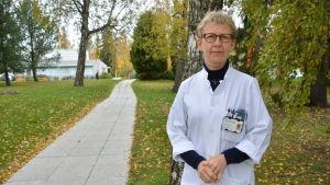 Klinikgruppschef Maija Räsänen på Vasa centralsjukhus.