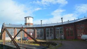 Lokstallen vid Karis järnvägsstation.