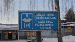 Kom ihåg parkeringsskivan skylt
