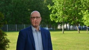 Chefen för Röda korsets flyktingförläggning i Korsnäs, Henrik Ingo.