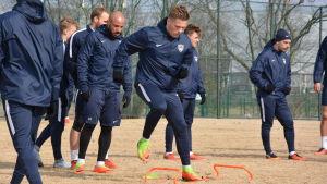 Benjamin Källman, FC Inters träningar, våren 2017.