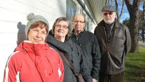 Elisabeth Liljeqvist, Ulla Päivärinta, Göran Nyman och Jukka Aalto från Ingå egnahemsförening.