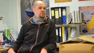 Kristian Willner på sitt kontor