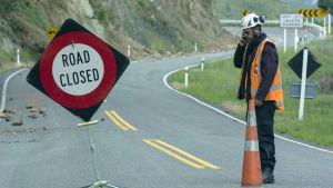 Många vägar är stängda efter jordbävningen i Nya Zeeland