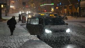 Taxistationen vid Åbo salutorg