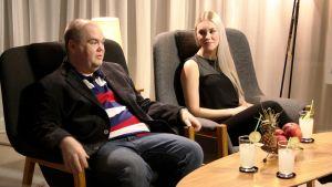Johan Lindroos och Clarissa.