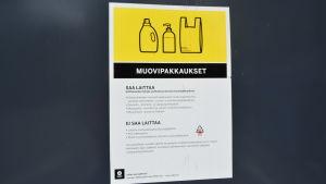 Rinkis plaståtervinning i Roparnäs i Vasa.