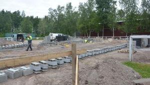 Stallbygge i Hangö norra.