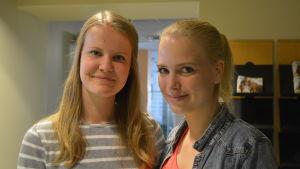 Elin Henriksson och Trude Gabrielsson från Borgå gymnastikförening