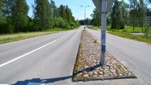 Övergångsstället på Bofinksvägen i Borgå.