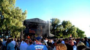 Bo Kaspers Orkester på juli festivalen i Ekenäs.