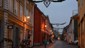 Julgata i gamla stan i Borgå